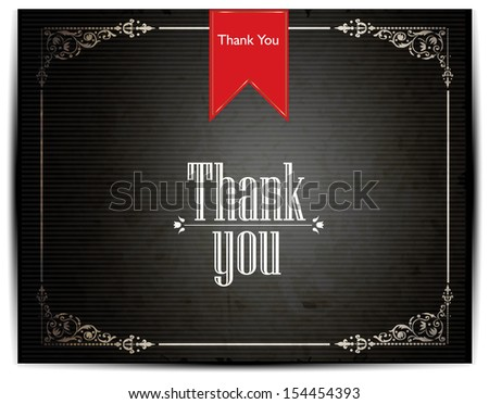 THANK YOU card design - stock vector