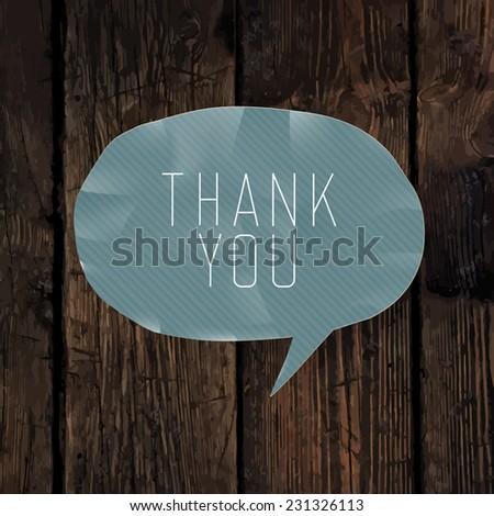 Thank you card design - stock vector