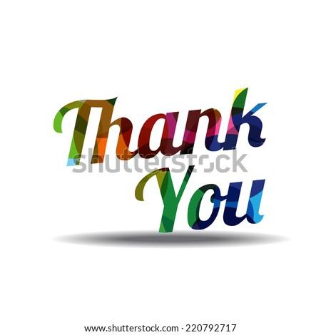 Thank You Colorful Vector Icon Design - stock vector