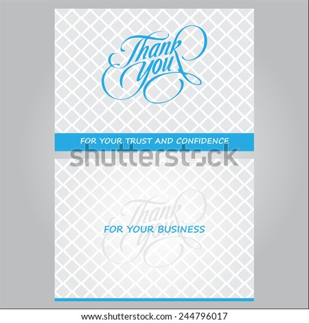 Thank You For You Business Card - stock vector