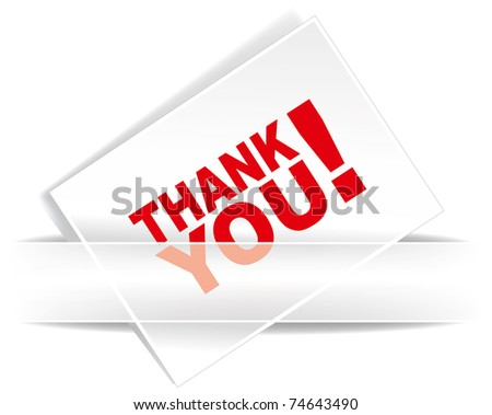 Thank you - grateful card. Vector illustration. - stock vector