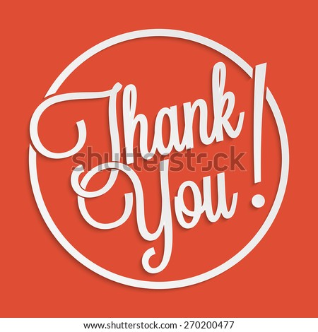 Thank you hand lettering for your design - stock vector