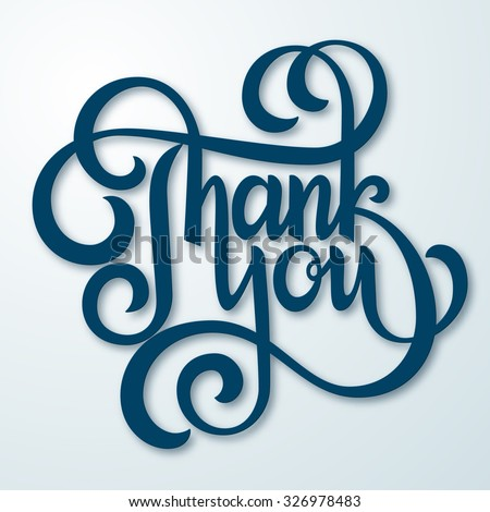 Thank You Hand lettering handmade calligraphy. Vector illustration - stock vector