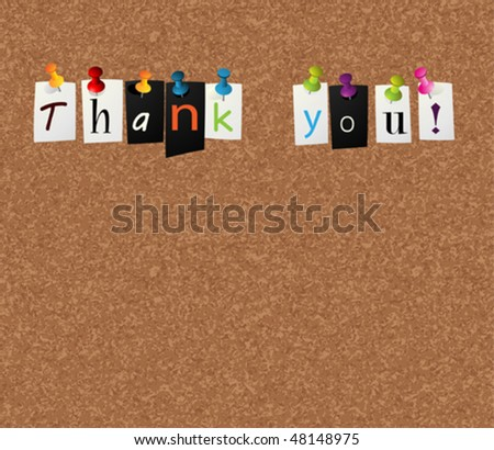 thank you notice concept - stock vector