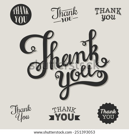 Thank you set. - stock vector