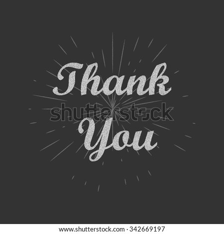 Thank you text background. Thank you card. Vector illustration. - stock vector