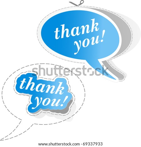 THANK YOU. Vector illustration. - stock vector