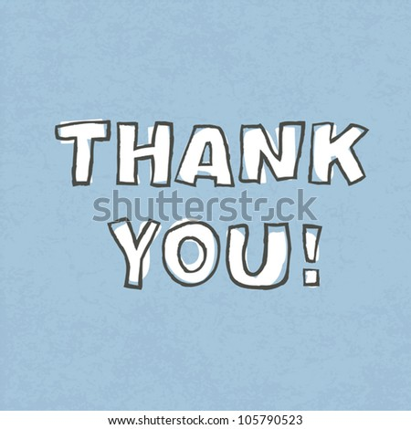 Thank you. Vector illustration, EPS 10 - stock vector
