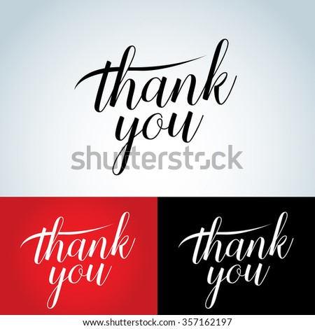 Thank You vector lettering. Thank you card, t-shirt, badge. Isolated vector illustration. - stock vector