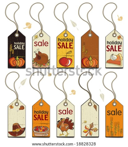 Thanksgiving Collection of tags. To see similar, please VISIT MY GALLERY. - stock vector