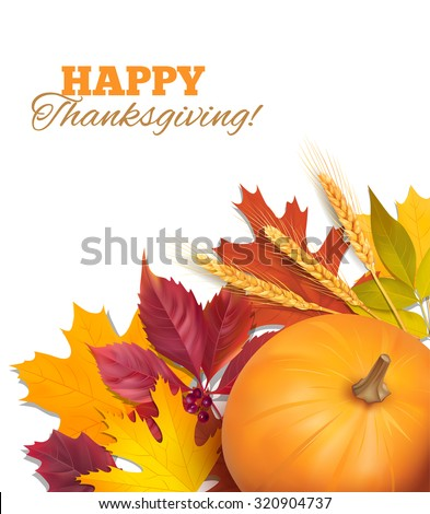 Thanksgiving Day background. Vector illustration.  - stock vector