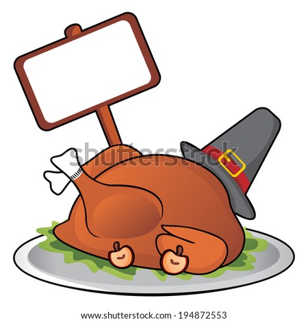 Thanksgiving dinner - stock vector