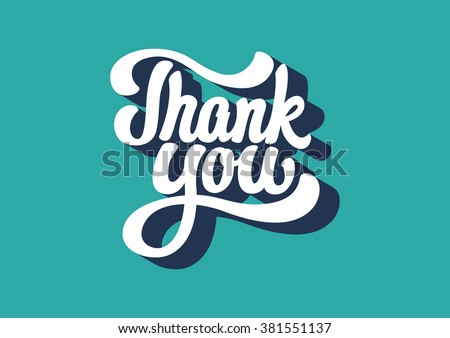 ThankYou lettering text - stock vector