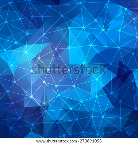 The abstract geometric 3D background. Vector illustration. - stock vector