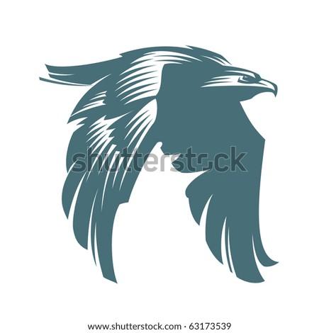 The American bald eagle in flight. Vector Graphics - stock vector