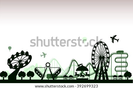 The Amusement Park  - stock vector