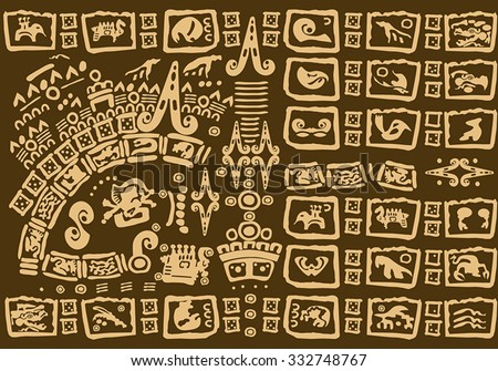 The ancient patterns of America - stock vector