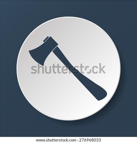 The ax icon. Axe symbol. Flat Vector illustration - stock vector