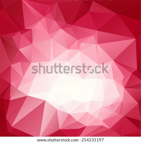 The background in the style of Cubism. Red white wallpaper - stock vector