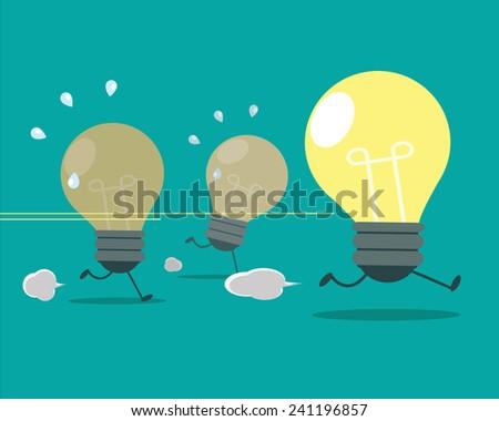 The best idea is a winner, illustration - stock vector