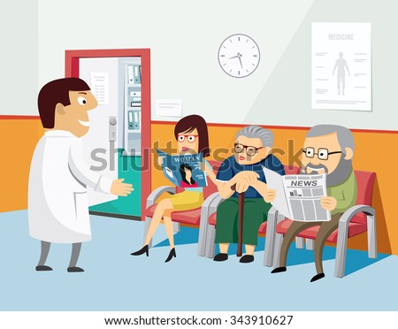 Doctors Waiting Room Stock Vectors & Vector Clip Art ...
