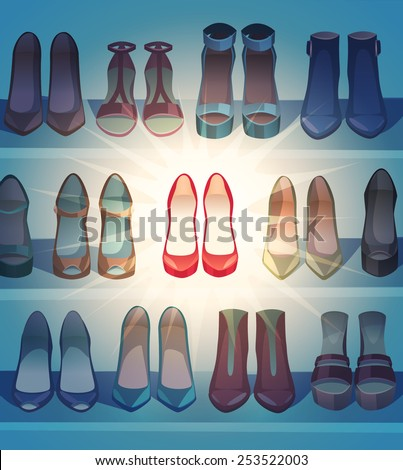 The best of the shoes. Vector illustration. - stock vector