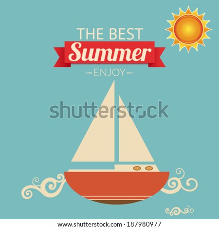 The Best Summer - stock vector