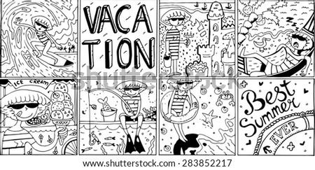 The BEST SUMMER EVER - stock vector