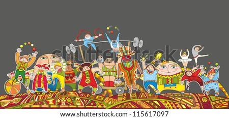 The big circus representation. A detailed vector - stock vector