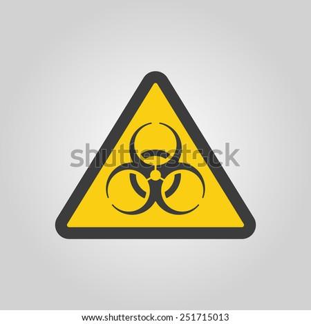 The bio-hazard icon. Bio hazard symbol. Flat Vector illustration - stock vector