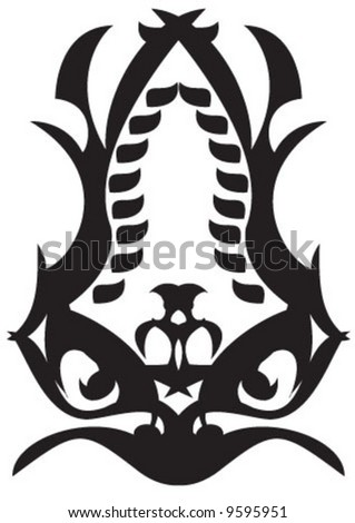 The black eye tattoo - stock vector