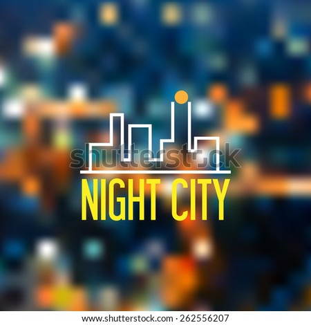 The Blurred backgrounds. The Blurred Defocused Lights. - stock vector