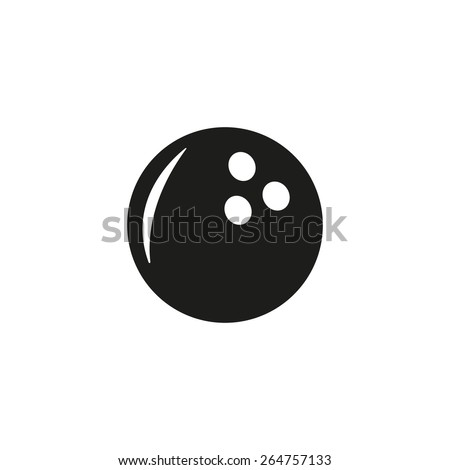 The bowling icon. Game symbol. Flat Vector illustration - stock vector
