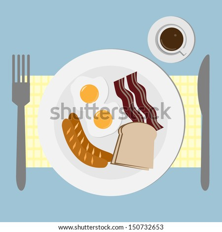 The breakfast  - stock vector