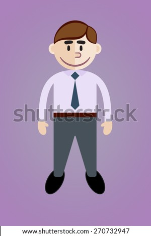 The businessman. Cartoon flat style. - stock vector