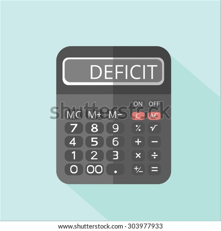 The calculation of losses on the edge of bankruptcy - stock vector
