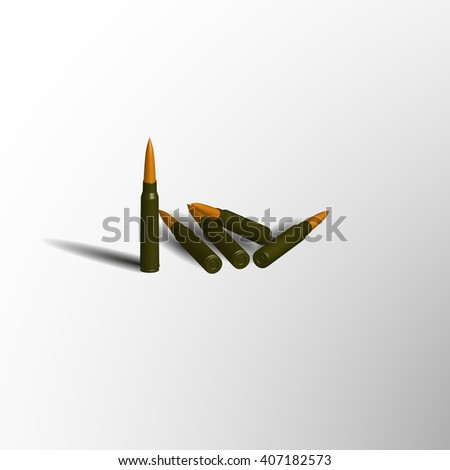 The cartridges of the machine in 3d isolated on gray background - stock vector