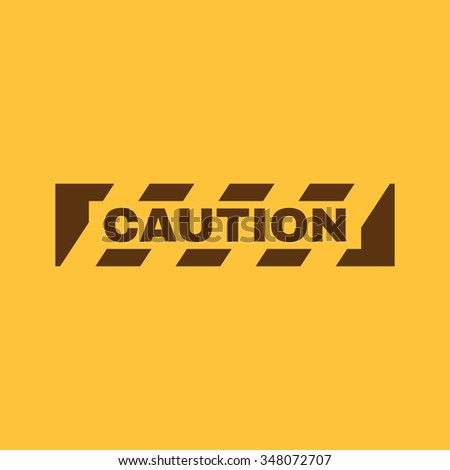 The caution icon. Danger and hazard, attention symbol. Flat Vector illustration - stock vector