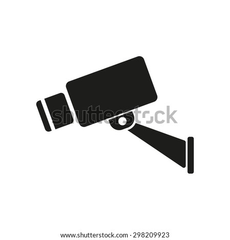 The cctv icon. Camera and surveillance, security, observation symbol. Flat Vector illustration - stock vector
