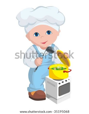 The child - cook - stock vector