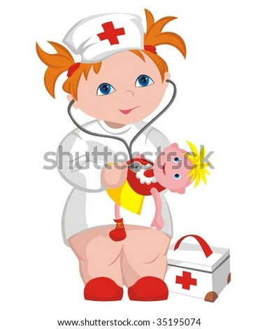 The child - doctor - stock vector