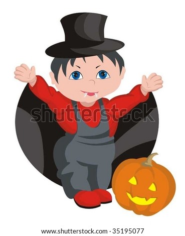 The child - HALLOWEEN - stock vector