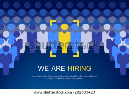 The choice of the best suited employee.  HR job seeking concepts. - stock vector