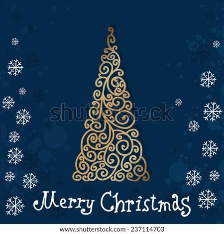 The Christmas Tree. Christmas background  - stock vector