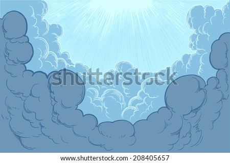 The clouds in the sky.Vector illustration 8 eps - stock vector