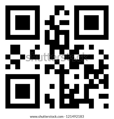 "The code is encrypted word ""QR-code"". EPS 8 file. - stock vector"