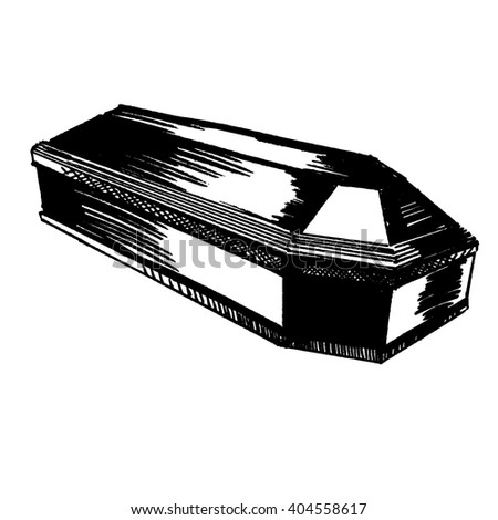The coffin - stock vector