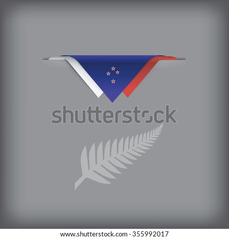 The combination of colors of the national flag New Zealand. Vector illustration. - stock vector