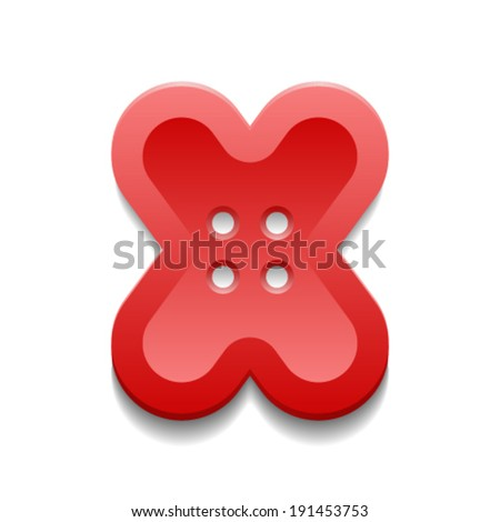 The concept of the button and letter. - stock vector