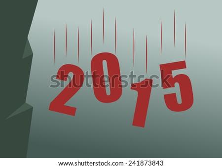 The crisis in Twenty Fifteen - stock vector